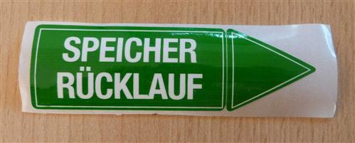 """Aufkleber """" SPEICHER RÜCKLAUF"""" Größe 94 x 30 mm 1 Stück (7178#"""
