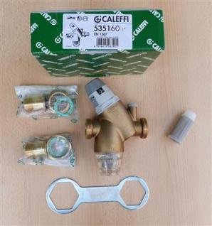 "Druckminderer mit Filter 1"" Caleffi 535160 + Ersatzfilter + Manometer(7908#"