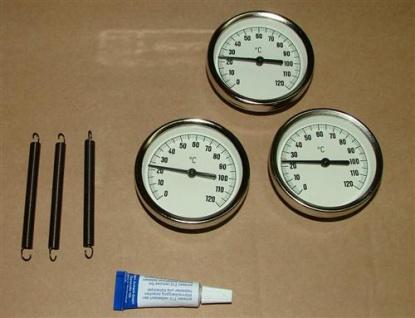 Anlegethermometer Set 3x Metallausführung Ø63mm -120°C + Wärmeleitpaste(5544# - Vorschau