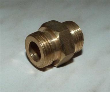 "Doppelnippel 3/8"" AG x 3/8"" AG / Messing / breite Dichtfläche (7672#"
