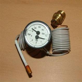 Kapillarthermo.+ Manometer 43mm 0-120°C / 0-4bar (5178#