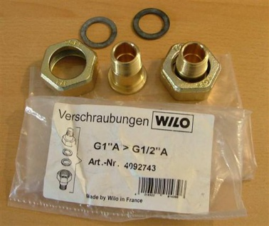 "Wilo Pumpenverschraubungssatz 1"" x1/2"" AG 2Stück (5221# - Vorschau"