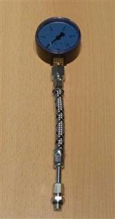 Pumpendruckmanometer blau 0-25bar incl.Hochdruckschlauch (6692#