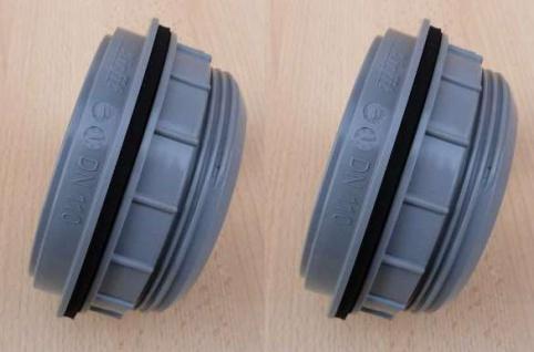 HT - Schraubanschluß Regentonnen DN110 / grau 2 Stück (9520#