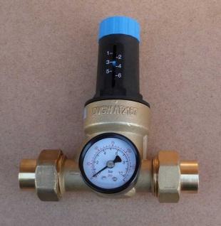 Druckminderer Watts 22mm Lötverschraubung + Manometer (6747#