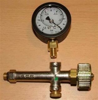 Vakuummanometer glyzering. + Entlüftungsarmatur (2028# - Vorschau