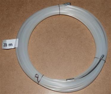 Einziehdraht Nylon 20m weiß / Kabeleinziehhilfe stark 4mm (6909# - Vorschau