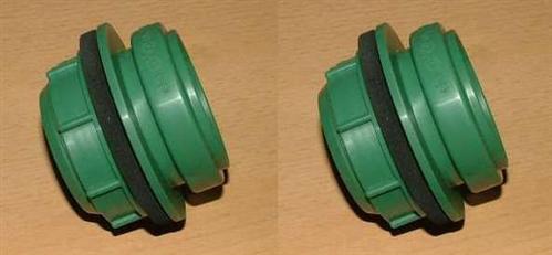 HT - Schraubanschluß Regentonnen DN50 / grün 2 Stück (9519# - Vorschau
