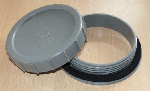 Reinigungsflansch- und Zugriffsöffnung 110mm Farbe grau (7046# - Vorschau
