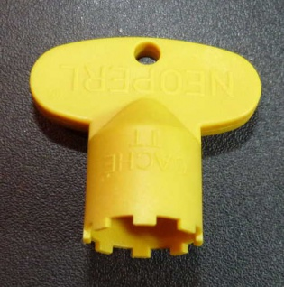Perlatorschlüssel® Serviceschlüssel Caché TT gelb passend für 16, 5x1 (6779#