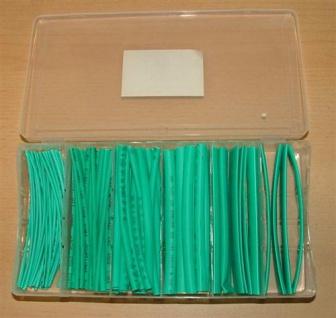 Schrumpfschlauchsortiment grün in Box (5395#