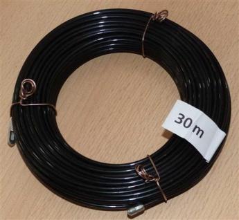 Kabeleinziehdraht 30m / Kabeleinziehhilfe Nylon schwarz (6734#
