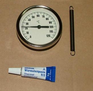 Anlegethermometer Metallausführung Ø63mm -120°C + Wärmeleitpaste(5542#