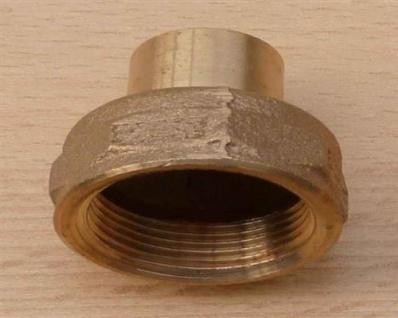 """Rotguss ÜG-Muffe mit Nippel, 18 mm x 3/4"""" IG (10736#"""
