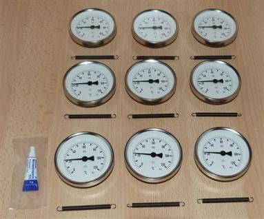 Anlegethermometer Set 9x Metallausführung Ø80mm -120°C + Wärmeleitpaste(5932# - Vorschau