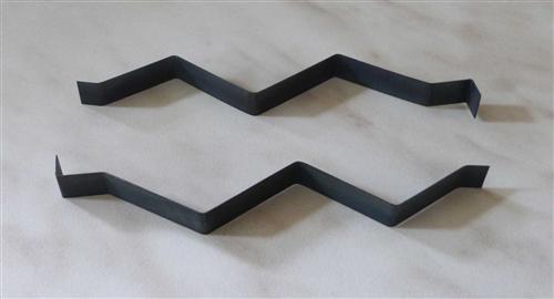 Klemmfedern 2Stück für Tauchhülse, polierter Stahl, Länge 100mm (7089# - Vorschau