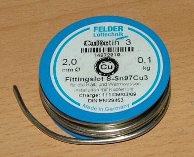 Lötzinn bestens = Weichlöten 0, 10 Kg Rolle Felder(4899#