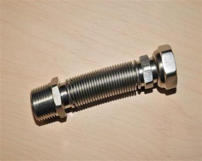 """Edelstahlflexwellrohr ausziehbar 1/2"""", 93 - 180mm (10585#"""