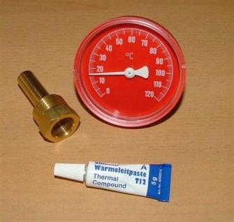 Tauchthermometer Ø63mm 0-120°rot +. Wärmeleitp.(5340# - Vorschau