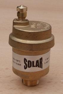 "SOLAR Schnellentlüfter Messing blank 3/8"" AG / max.180°C / SV 38 (8540#"