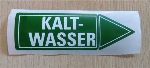 """Aufkleber """" KALTWASSER"""" Größe 94 x 30 mm 1 Stück (7173#"""