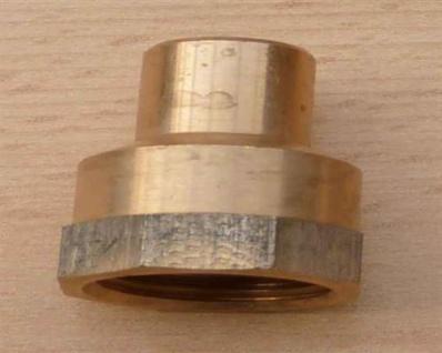 """Rotguss ÜG-Muffe mit Nippel, 15 mm x 1/2"""" IG (10733#"""