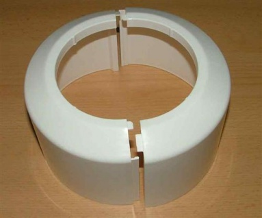 Abdeckrosette 2 teilig weiß für Stand - WC (4552#