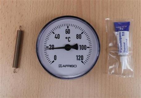 1 Anlegethermometer Ø 80 - 120°C + Wärmeleitpaste (7837#
