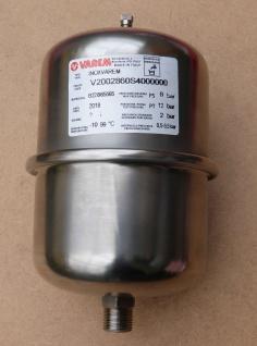 Ausdehnungsgefäß Edelstahl Varem 2l Zylinder (10733#