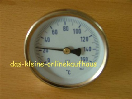 Solar Thermometer Ø 63mm / 0-160°C / blau (373#