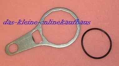 Ölfilterschlüssel Metall + 1 Gummiring für alle gängigen Heizölfilter (6656#