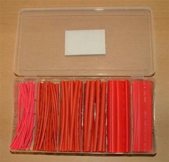 Schrumpfschlauchsortiment rot in Box (5394# - Vorschau