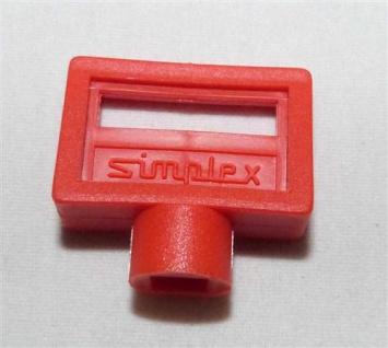 Entlüftungsschlüssel Simplex 5mm Kunststoff rot 1 Stück (7432#