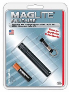 Mag Lite® Mini Solitaire schwarz 80mm, 2 lm, inkl. 1x AAA-Batterie (10280#