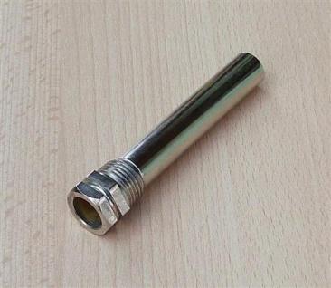 "Tauchhülse Messing vernickelt 1/2"" AG x L= 100 x Innen Ø=15, 8mm (8007#"
