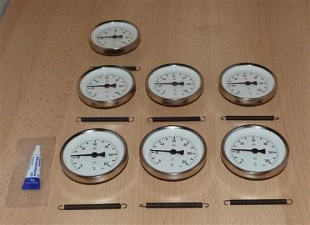 Anlegethermometer Set 7x Metallausführung Ø80mm -120°C + Wärmeleitpaste(5930#