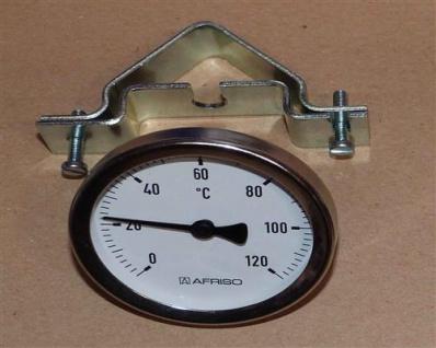 Anlegethermometer Ø 63mm mit Unischelle 0-120°C (375#