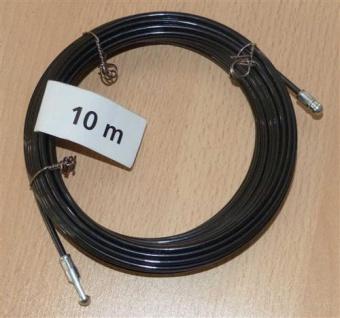 Kabeleinziehdraht 10m / Kabeleinziehhilfe Nylon schwarz (6730# - Vorschau