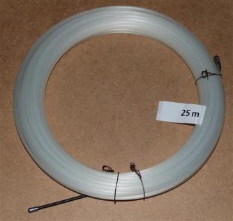 Einziehdraht Nylon 25m weiß / Kabeleinziehhilfe stark 4mm (6910#