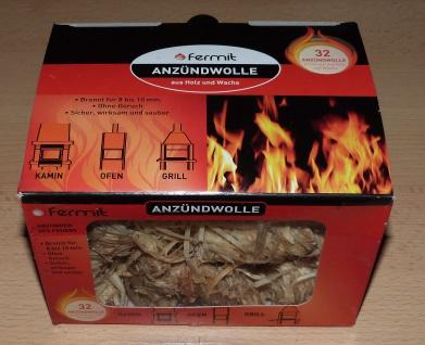 Fermit Anzündwolle 32er Box für Kamin Ofen Grill geruchsneutral (9990#