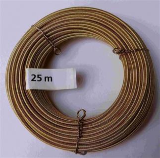 Einziehspirale 25 Meter 4 fach gedrehter Stahldraht gelb (5785#