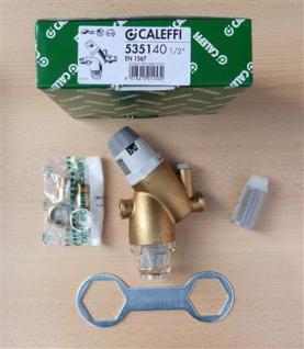 "Druckminderer mit Filter 1/2"" Caleffi 535140 + Ersatzfilter + Manometer (7906#"