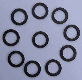 """Gummi-Verschraubungs-Dichtung / 34x24x3mm = 1/2"""" / 10 Stück (8778#"""