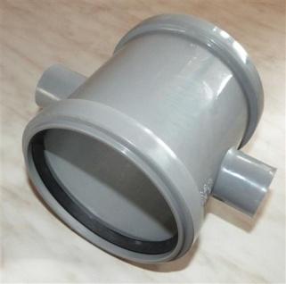 Doppelschiebemuffe Plus DN 110 + 18 mm Farbe grau(7042# - Vorschau