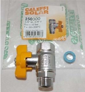 Absperrkugelhahn SOLAR 3/8 Zoll AG Caleffi hochwertig bis +200°C(7506#