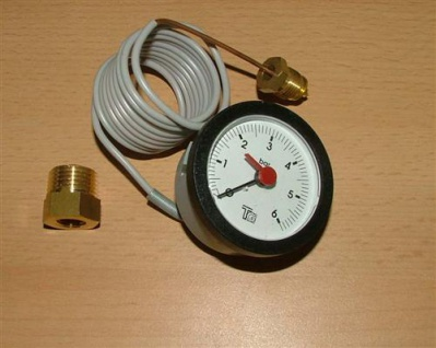 Kapillarmanometer Ø 57mm 1, 5m Kapillarlänge 0-6bar(402#
