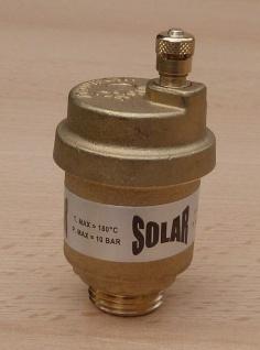 "SOLAR Schnellentlüfter Messing blank 1/2"" AG / max.180°C / SV 50 (8541#"