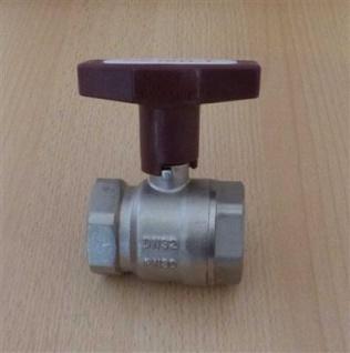 "Isolierkugelhahn ISO-T 1 1/4"" DN 32 roter Griff / HS (6761#"