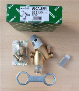 "Druckminderer mit Filter 3/4"" Caleffi 535150 + Ersatzfilter + Manometer (7907#"