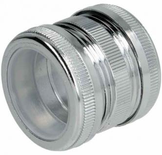 Kupplung mit 2 Rändelmuttern für Chromsifon 32mm (1436* - Vorschau